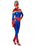 Captain Marvel™ Lizenzkostüm für Damen rot-blau-gold