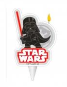 Darth Vader™ Geburtstagskerze weiss-schwarz-rot 7,5 cm