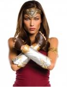 Wonder Woman™ Kostümzubehör-Set für Damen 4-teilig braun-silber-gold