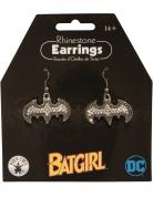 Batgirl™-Ohrringe silber-schwarz