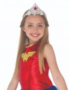 Wonder Woman™-Tiara für Kinder silberfarben-rot