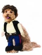 Han Solo™-Hundekostüm Star Wars™ Halloween bunt