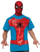 Spider-Man™ Herrenkostüm T-Shirt und Maske rot-blau-schwarz