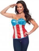 Captain America™-Damenkorsage blau-weiss-rot