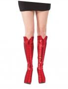 Spider-Girl™ Stiefelüberzieher rot-schwarz
