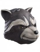 Rocket Raccoon™-Latexmaske für Erwachsene grau-weiss-schwarz