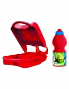 Star Wars™ Brotdose und Trinkflasche Lizenzartikel rot-blau-grün 24x15cm