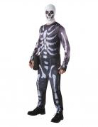 Fortnite™-Kostüm für Erwachsene Skull Trooper-Kostüm schwarz-weiss