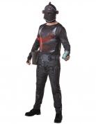 Black Knight Kostüm für Erwachsene Fortnite™-Lizenzkostüm schwarz-rot