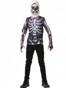 Fortnite™-Kostüm für Kinder und Jugendliche Skull Trooper-Kostüm schwarz-weiss