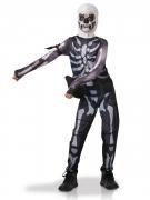 Fortnite™-Lizenzkostüm für Kinder und Jugendliche Skull Trooper schwarz-weiss