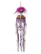 Horrorclown-Skelett Hängedeko für Halloween bunt 40 cm