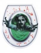 Spukender Geist WC-Aufkleber für Halloween grün-weiss-rot 28 x 32 cm