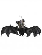 Animierte Horror-Fledermaus schwarz-grau 45 x 80 cm