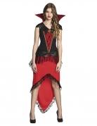 Vampir-Kostüm für Teenager schwarz-rot