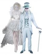 Geister-Hochzeits-Paarkostüme weiss-grau