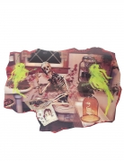 Skelett-Wanddeko für Halloween bunt 38x27cm