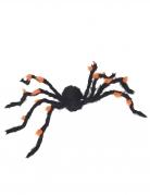 Riesige Deko-Spinne Halloween-Figur schwarz-orange 108cm