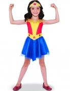 Wonder Woman™-Kostüm für Mädchen blau-gelb-rot