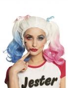 Süsse Harlekin-Perücke für Damen Film-Accessoire Halloween blond-blau-rosa
