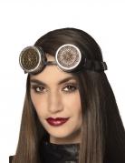 Steampunk-Brille mit Muster schwarz-silber-gold-kupfer