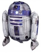 R2 D2™-Aluminiumballon weiss-blau 86 x 96 cm