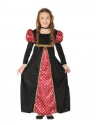 Mittelalter-Kleid für Kinder Burgfräulein schwarz-rot