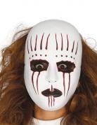 Unheimliche Pantomimen-Maske für Erwachsene weiss-schwarz-rot