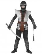 Ninja-Meister Kinderkostüm Halloween-Kostüm schwarz-grau