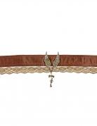 Steampunk-Halsband für Damen Accessoire Halloween braun