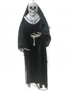 Skelett-Nonne Hängedeko für Halloween schwarz-weiss 86 cm