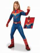 Captain Marvel™-Kostüm für Mädchen Halloweenkostüm blau-rot-gold