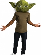 Yoda™-Maske für Erwachsene aus Stoff Star Wars™ grün