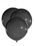 Riesige Latexballons 5 Stück schwarz 47 cm