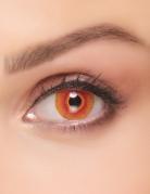 Fantasie-Kontaktlinsen infiziertes Monster Make-up Halloween rot-gelb