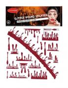 Glitzernde Blut-Aufkleber für Erwachsene rot