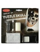 Halloween-Make-up Puzzle schwarz-weiss