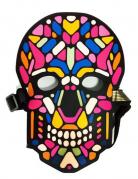 Animierte Skelett-Maske für Erwachsene mit Licht und Ton bunt