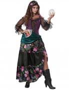 Hübsche Hellseherin Damen-Kostüm für Halloween bunt