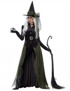 Gothic-Hexe Damen-Kostüm schwarz-grün