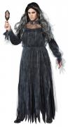 Horror-Braut Damenkostüm für Halloween schwarz
