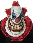 Gigantische Horrorclown-Maske für Erwachsene 2-teilig bunt