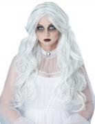 Geisterdame-Perücke Langhaarperücke Halloween-Zubehör weiss