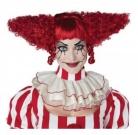 Psychoclown-Perücke für Damen rot
