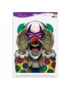 Killerclown-Aufkleber für Halloween bunt 30 x 43 cm