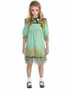 Erschreckendes Zwillingsmädchen-Kostüm grün-schwarz-weiss