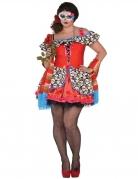 Dia de los Muertos Kostüm Übergröße für Damen bunt