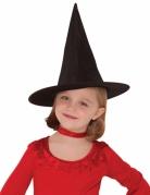 Spitzer Hexenhut für Kinder schwarz