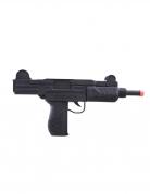 Maschinenpistole Spielzeug-Waffe Accessoire schwarz 37cm