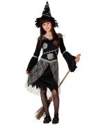 Geflicktes Hexenkostüm für Mädchen schwarz-grau